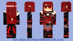Elesis - Crimson Avenger Minecraft Skin