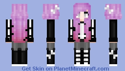 Goth Skeleton Minecraft Skin