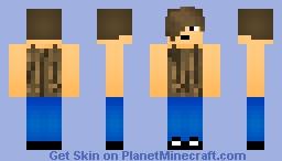 Oak-Pattern Tanktop Minecraft Skin