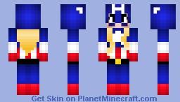 (girl Version)Captain America -Happy 75th Aniversery of Captain America- Minecraft Skin