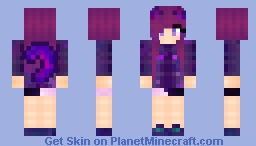 Galaxy Cat Girl  Minecraft Skin