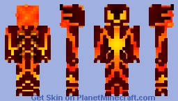 Black Flame of Calamity Minecraft Skin