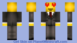 Heart-Eye Emoji Man Minecraft Skin
