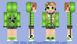 Creeper Girl [Remake] Minecraft Skin