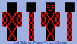 Red Alien Minecraft Skin