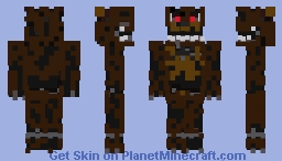 Nightmare Freddy Fnaf4 Minecraft Skin