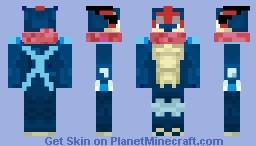 AshGreninja XYZ Minecraft Skin - Skin para minecraft pe de pokemon