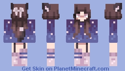 | A Night with a Cat | 🐱 | Minecraft Skin