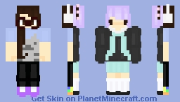 Updated OC + Yours Truly (online persona contest submission) Minecraft Skin