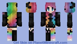 Since when do I make rainbow hair (Request) Minecraft