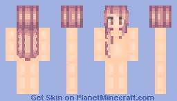 Purple Maroon Hair base Minecraft Skin