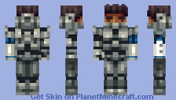 Space Hero (Now with proper helmet) Minecraft Skin