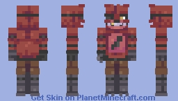 Foxy The Pirate FNAF Series- Minecraft Skin