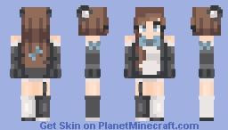 ƁℓυєAηgєℓ ~Panda // Again New Hair Shading // Boy Version In Desc Minecraft Skin