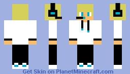 Blonde Male Gamer Minecraft Skin