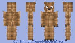 This is a bear that I made at 4 AM because I am so bored lol Minecraft Skin