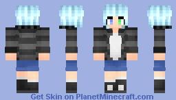 Neon Blue Girl Minecraft Skin