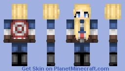Captain America ( Female ) Minecraft Skin