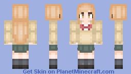Miyano 【Tanaka-kun wa Itsumo Kedaruge】 Minecraft Skin