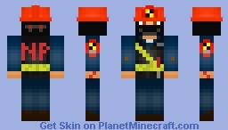 Ninja Work Clothes Minecraft Skin
