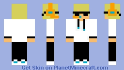 Blonde male gamer (cool guy version) Minecraft Skin