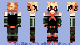 Katsuki Bakugou [Boku no Hero Academia] - [Remastered] Minecraft Skin