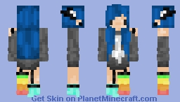 ♋𝓼𝓱𝔞𝔡𝔂♋  Rainbow emo Minecraft Skin