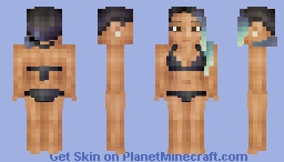 Tropical Ocean - Moving Eyes! - One Piece & Coverup in Desc. Minecraft Skin