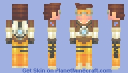 Tracer from Overwatch (requested) Minecraft Skin