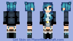 blue blue and more blue Minecraft Skin