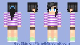 Modern mu- girl Minecraft Skin