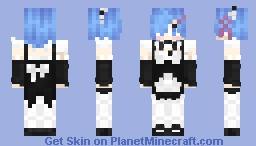 Rem - ReZero [Ram in desc] ~ᴹᵒⁿᵒ Minecraft Skin