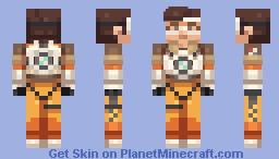 Tracer ~ Overwatch Minecraft Skin