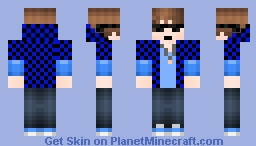 Blue Cool Boy Minecraft Skin