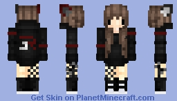◘ Dark angel with ears ◘ Minecraft Skin