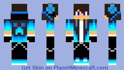 Blue Creeper Boy  Minecraft Skin