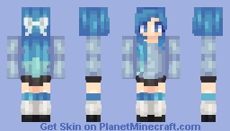 OC | Sapphire - FIRST POPREEL!! Minecraft Skin
