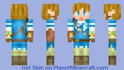 Link Legend Of Zelda Breath Of The Wild Minecraft Skin - Skins para minecraft zelda