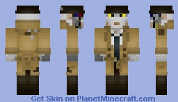 Nick Valentine - Fallout 4 Minecraft Skin