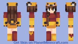 ƁℓυєAηgєℓ ~ Pooh Bear ≧'◡'≦ Minecraft Skin