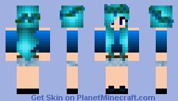 Dark Blue Girl Minecraft Skin