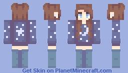 🌙   starry night Minecraft Skin