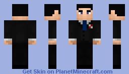 Bruce Wayne Arkham City Minecraft Skin