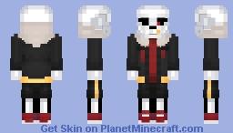 Fell!Sans (Underfell) Minecraft Skin