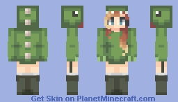 ⌊uℵašoα⌊ ~ Sassy Dino Hoodie Minecraft