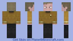 Captain James T Kirk  / ST TOS Minecraft Skin