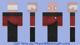 Captain Jean Luc Picard Minecraft Skin