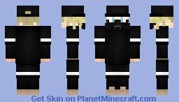 Guy with gasmask #allblack #blackandwhite (Hipster skin series) Minecraft Skin