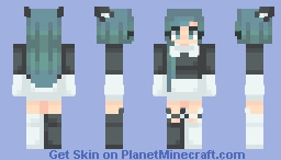 ƁℓυєAηgєℓ ~ Black&White // Male Version In Desc Minecraft Skin