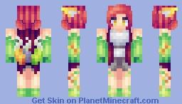 Dragonfruit Foxy Minecraft Skin